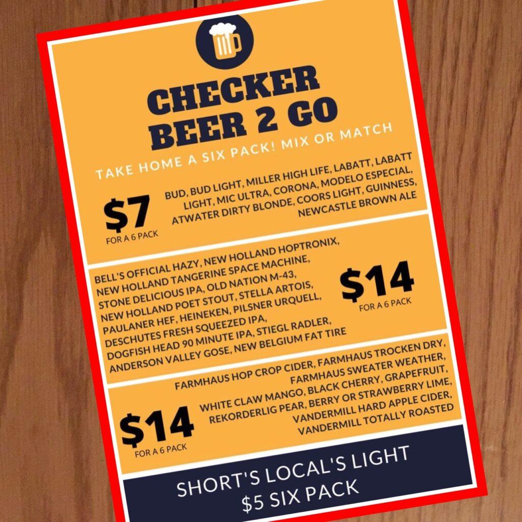 Checker Bar Beer Menu